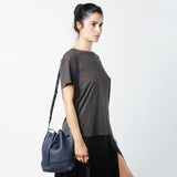 Mansur Gavriel Mini Blu Tumble Bucket Bag / Shop Super Street - 2