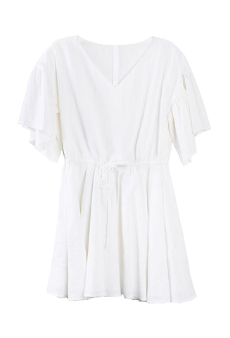 Tuileries Draw-String Dress White