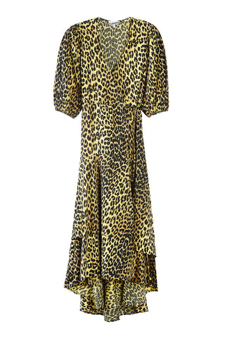 Bijou Dress Yellow Leopard