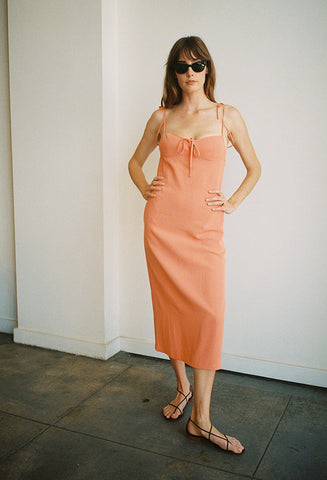 Serpentine Dress Papaya