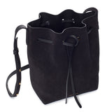 Mansur Gavriel Mini Black Suede Bucket Bag / Shop Super Street - 5