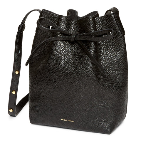 Mansur Gavriel Mini Black Tumble Bucket Bag / Shop Super Street - 1