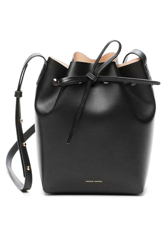 Mansur Gavriel Black/Ballerina Mini Bucket Bag / Shop Super Street - 1