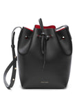 Mansur Gavriel Black/Flamma Mini Bucket Bag / Shop Super Street