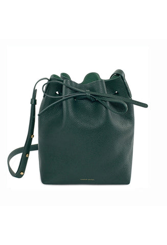 Mansur Gavriel Mini Moss Tumble Bucket Bag / Shop Super Street