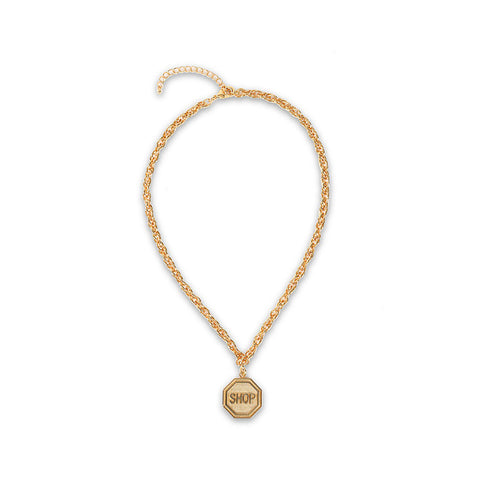 Moschino Shop Necklace / Shop Super Street