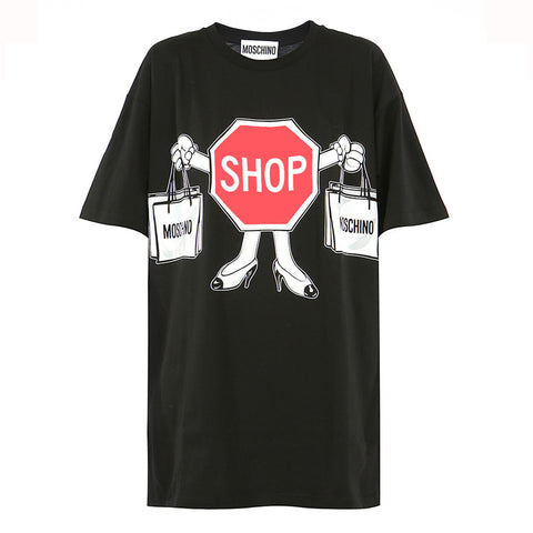 Moschino Short Sleeve Shop T-Shirt / Shop Super Street - 1