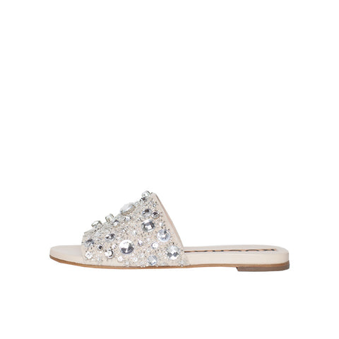 Rochas Nude Jeweled Slides / Shop Super Street - 1