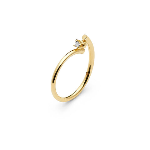 Wasson Fine 14k Gold Wraparound Wire Ring / Shop Super Street - 1