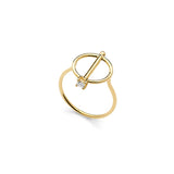 Wasson Fine 14k Gold Pin Disc Ring / Shop Super Street - 1