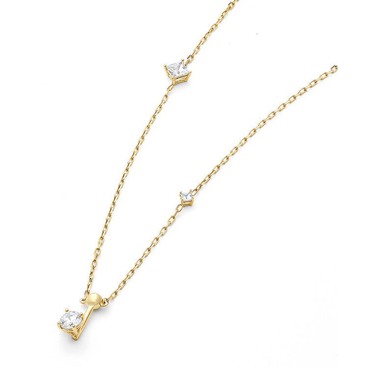 Wasson Dainty Chain 14kt gold and sapphire necklace lIagpn