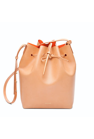Mansur Gavriel Camello/Orange Bucket Bag / Shop Super Street - 1
