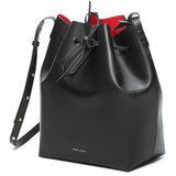 Mansur Gavriel Black/Flamma Bucket Bag / Shop Super Street - 3