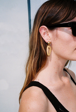 The Modernist Earrings Pine/Gold Plated