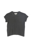 Washed Black Boxy Crew Tee