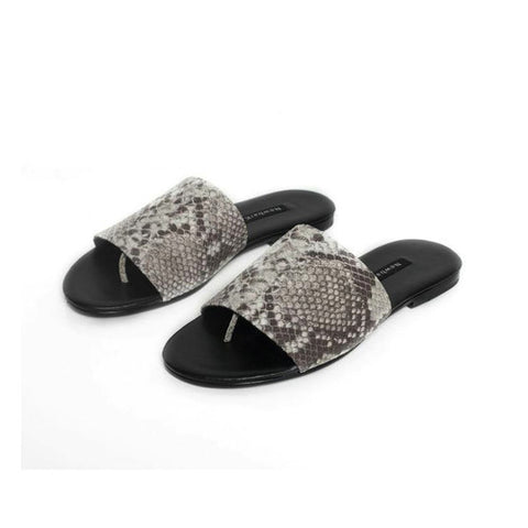 Newbark Snake Leather Slides / Shop Super Street - 1