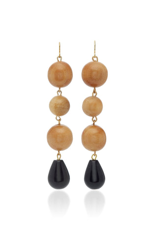 Super Nova Earrings Onyx/Pine