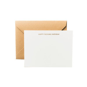 Terrapin Stationers Happy Fucking Birthday A2 Notecard Set / Shop Super Street