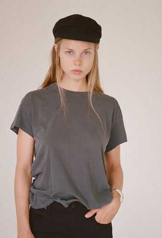 The Great Washed Black Boxy Crew Tee / Shop Super Street - 1