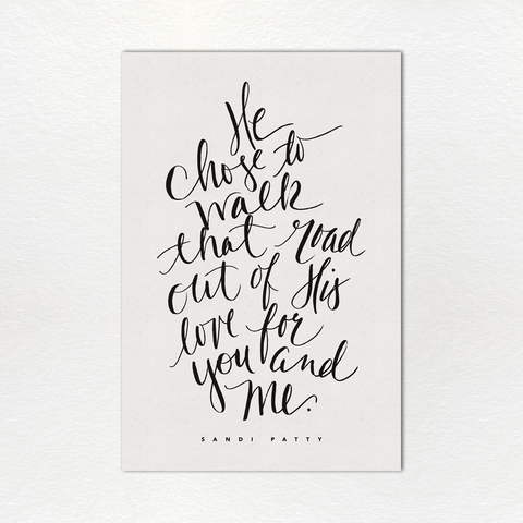 Monthly Lyric Print: March