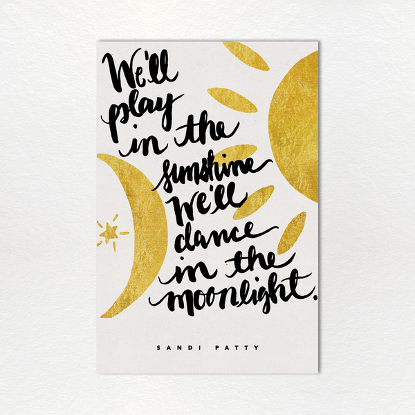 Monthly Lyric Print: April