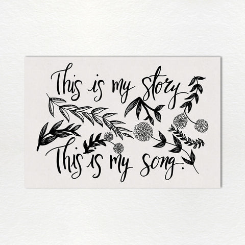 Monthly Lyric Print: August