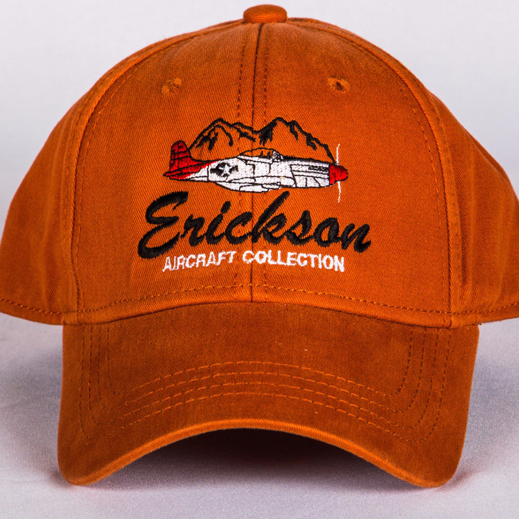Erickson Aircraft Collection P-51 Mustang hat in Texas Orange