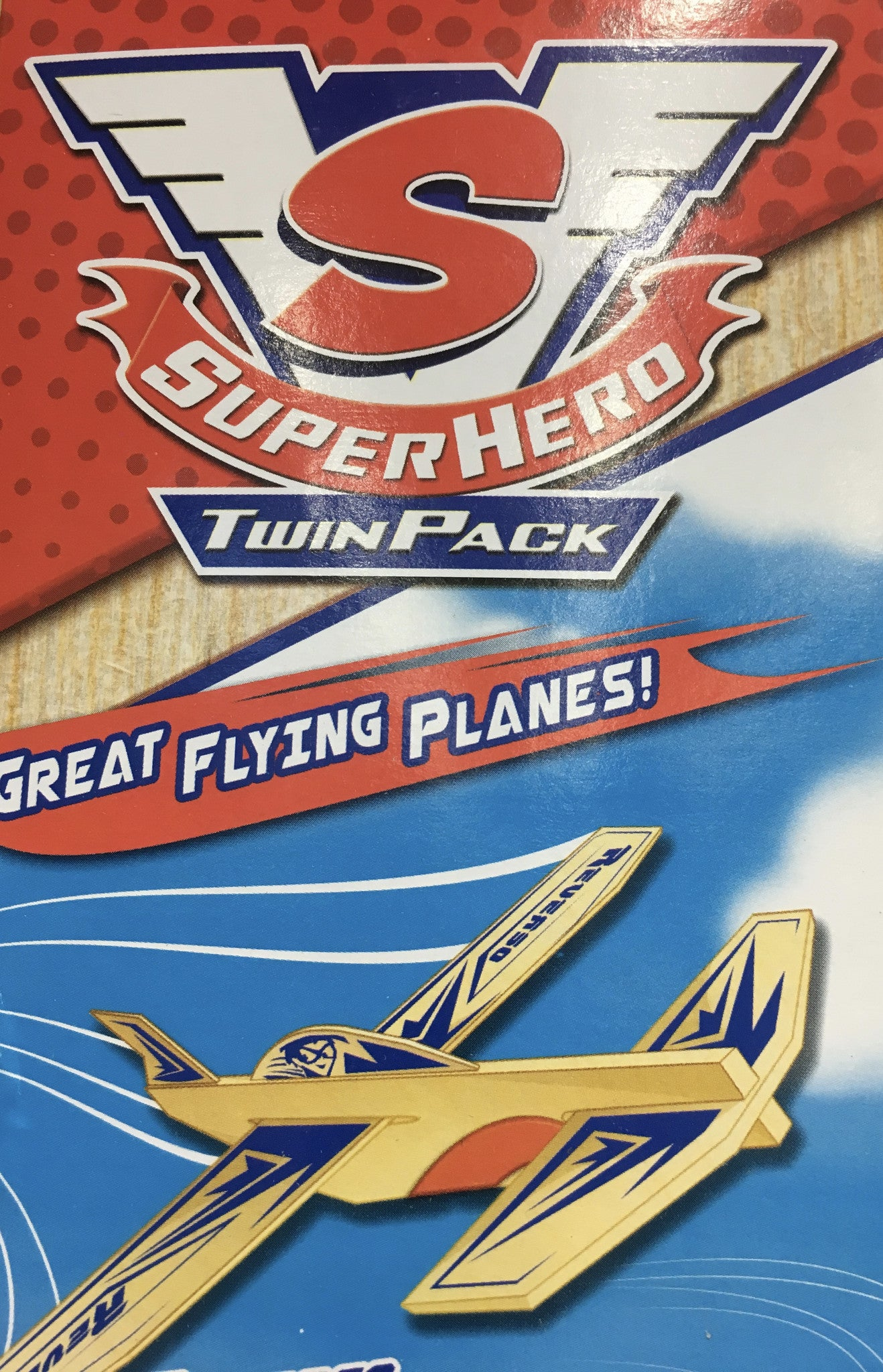 Super Hero Balsa Glider Twin Pack
