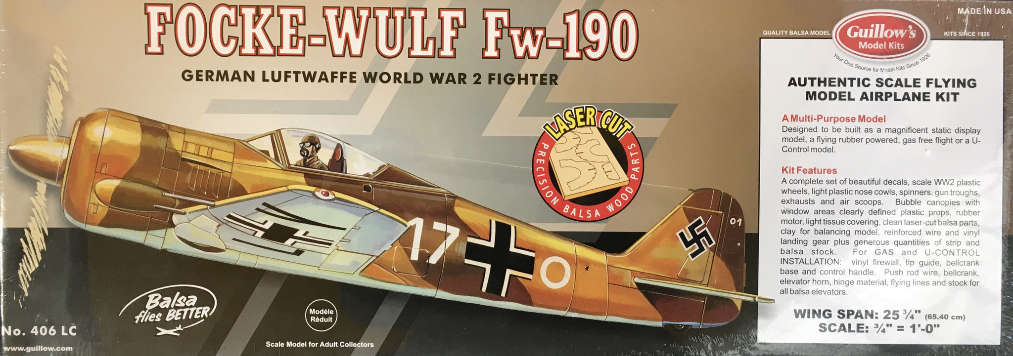 Focke-Wulf 190 Balsa Flying Model Kit
