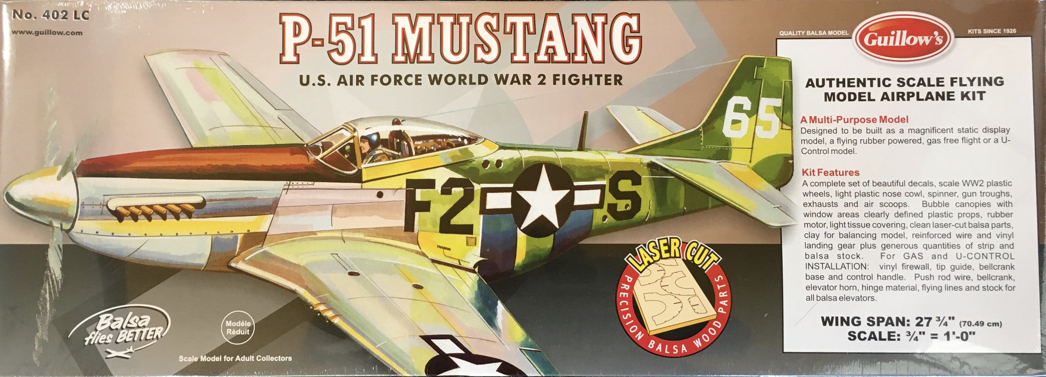 P-51 Mustang Lazer Cut Model