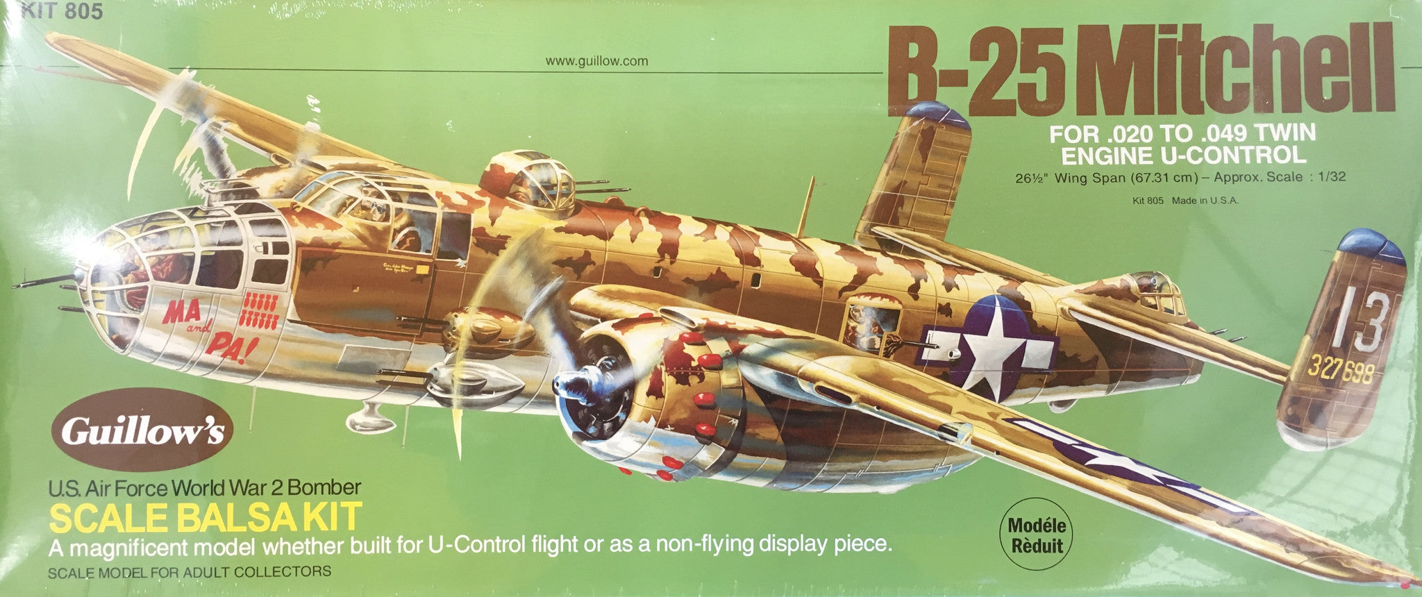 B-25 Mitchell Balsa Model Kit
