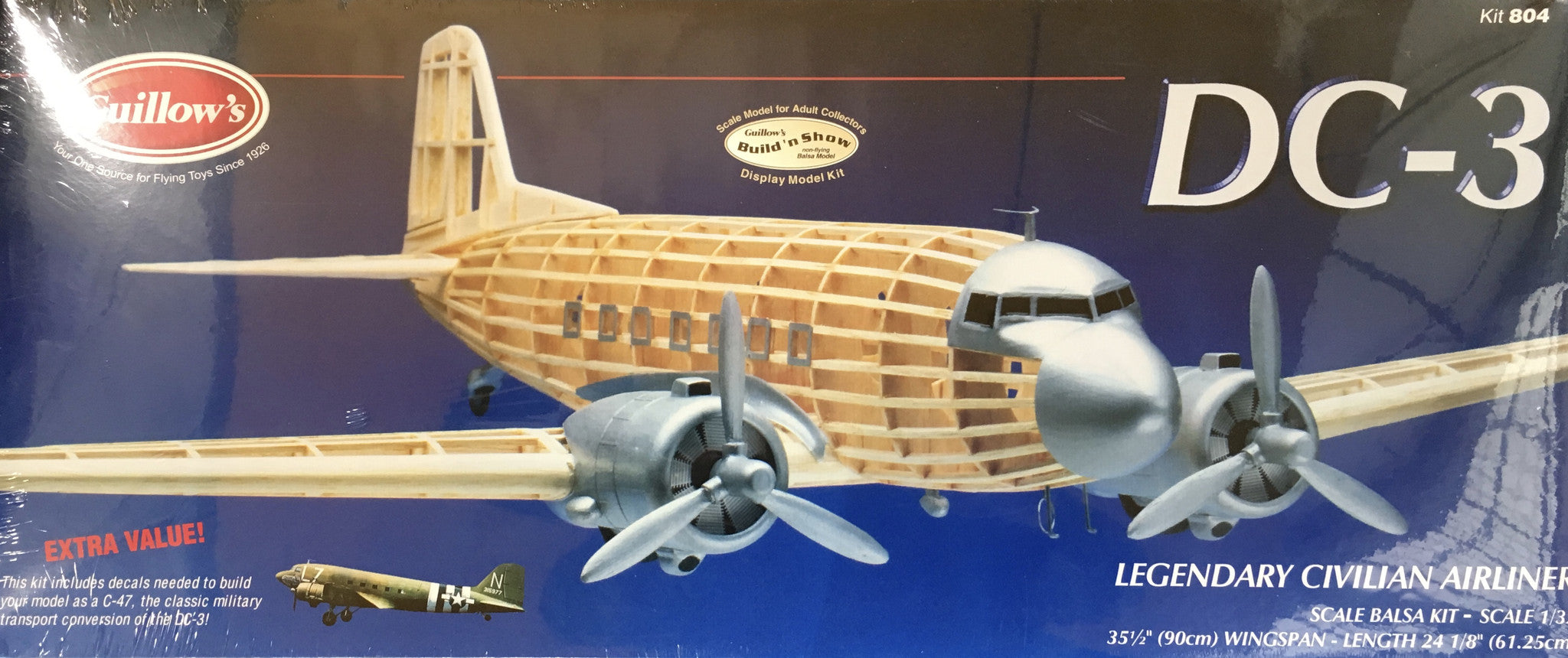 DC-3 Balsa Model Kit