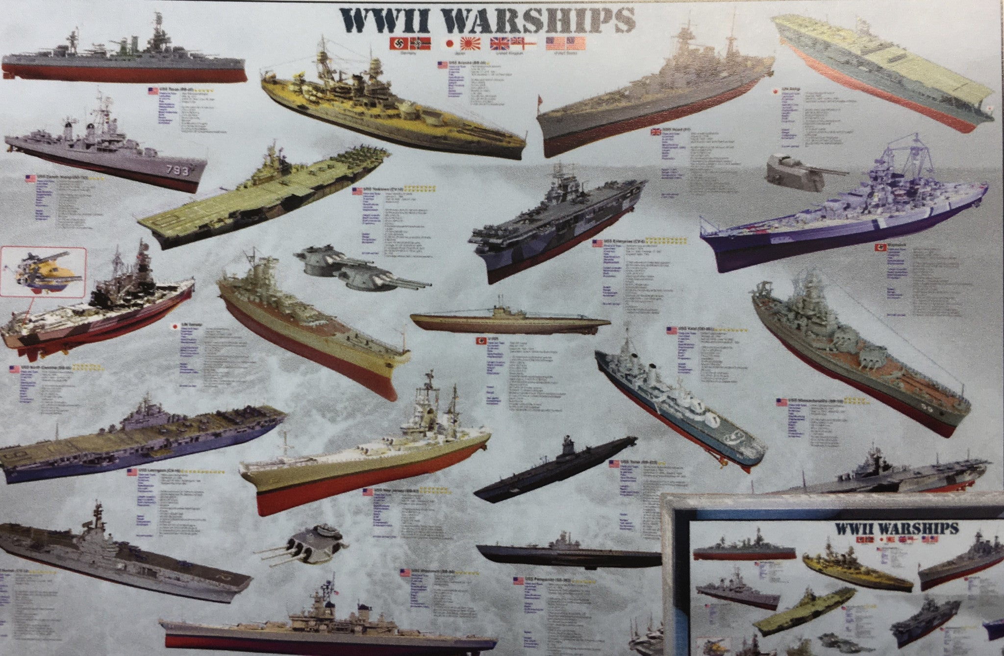 WWII Warships Poster