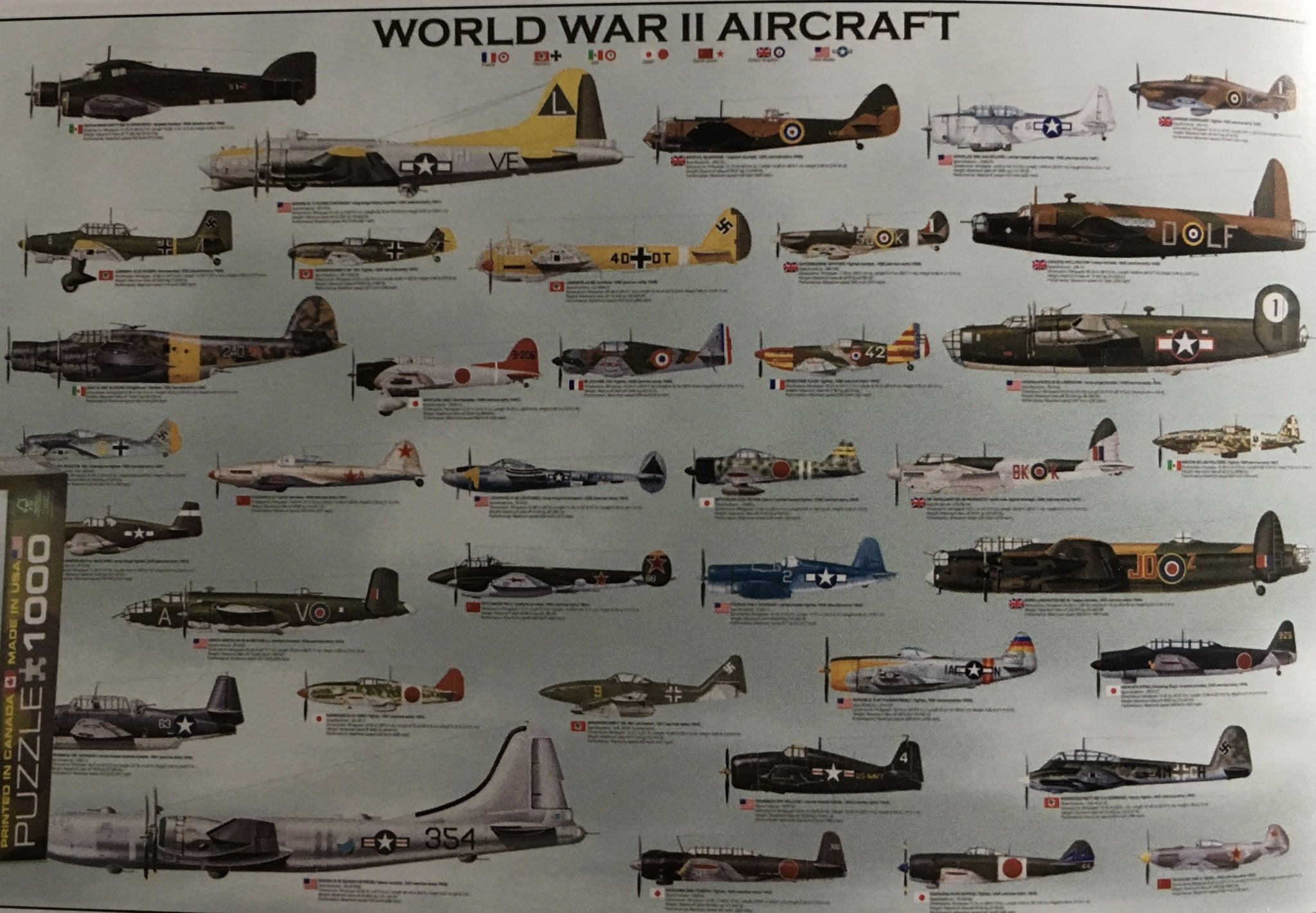WWII Aircraft Poster