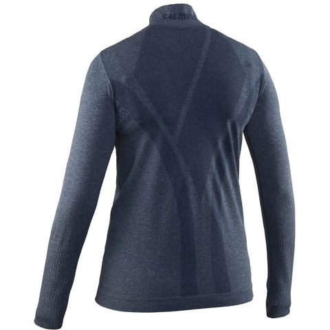 Image of Salming Run Seamless Half Zip Women - Steel Blue