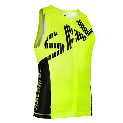 Salming Triathlon Singlet Men - Yellow/Black