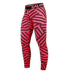 Salming Flow Tights Women - Coral/Black Printed