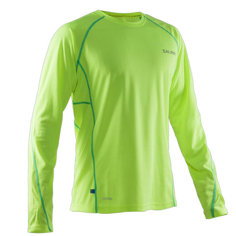 Salming LS Tee Men - Safety Yellow/Ceramic Green