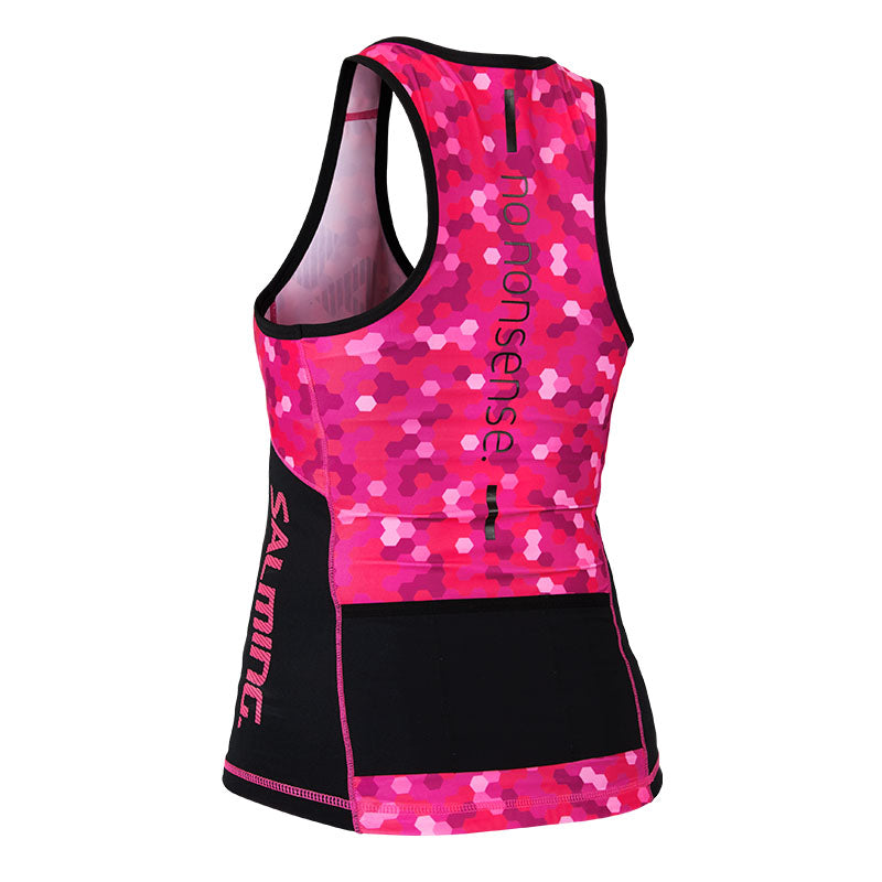 Salming Triathlon Singlet Women - Black/Pink