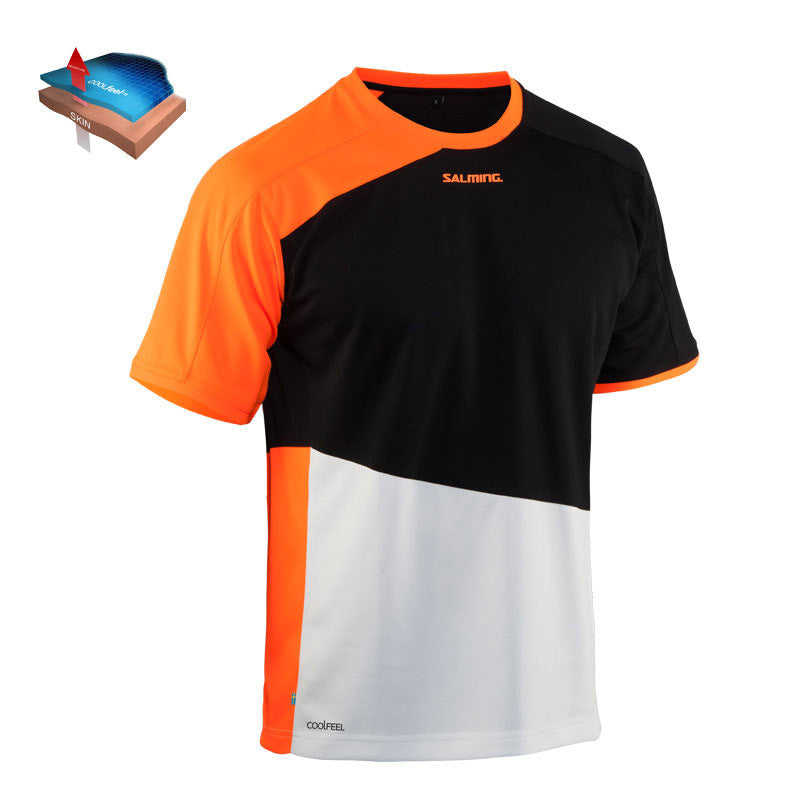 Salming Active Tee JR - MagmaRed/Black
