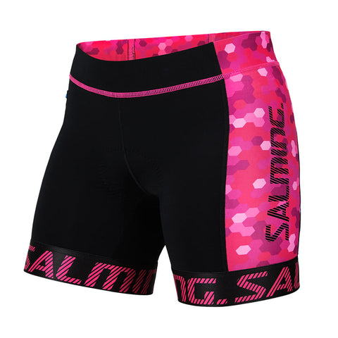 Image of Salming Triathlon Shorts Women - Black/Pink