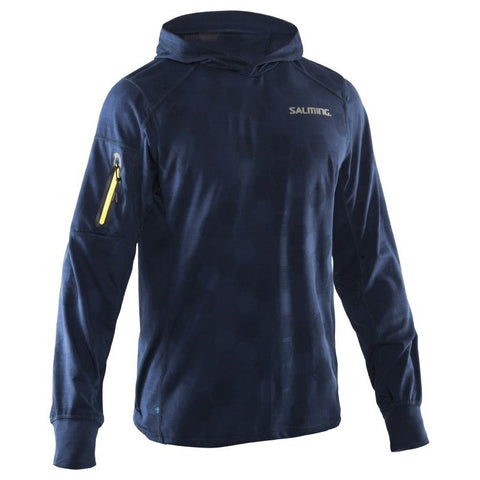 Salming Run Hexagon Hood Men- Navy