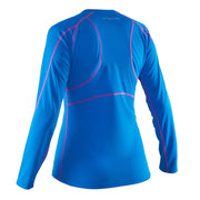 Salming LS Tee Women - Electric Blue/Azalea Pink