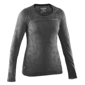 Run LS Top Women- Dark Grey Melange