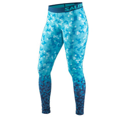 Salming Flow Tights Women - Ceramic Green Print
