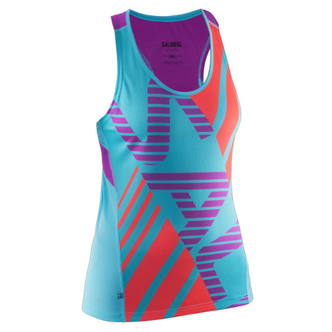 Salming Race Singlet Women - Turquoise/Cactus Flower