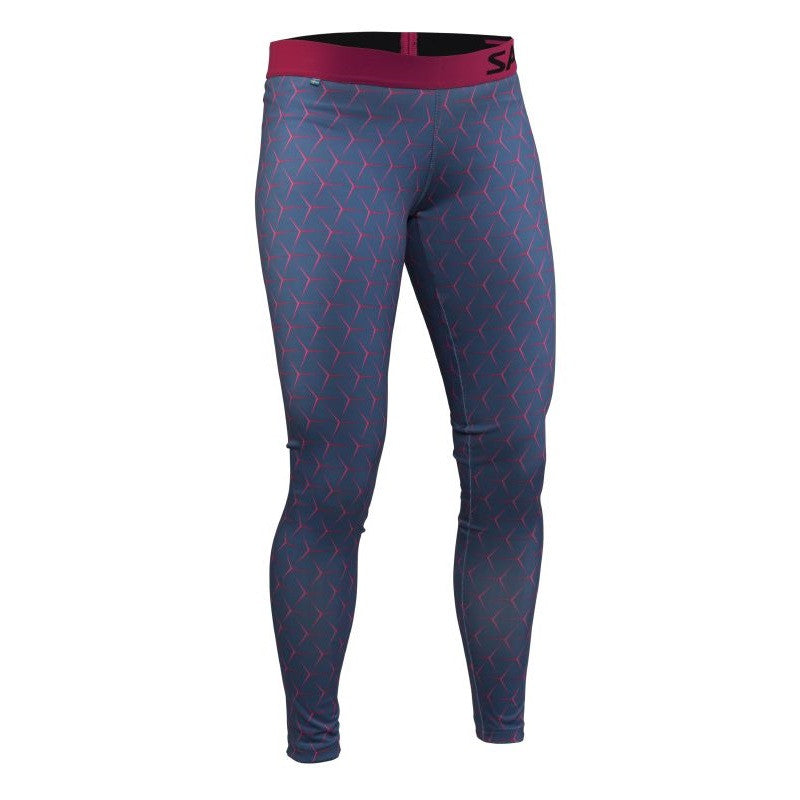 Run Flow Tights Women - Blue/Pink