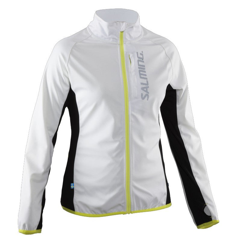 Salming Running Jacket- White/Black