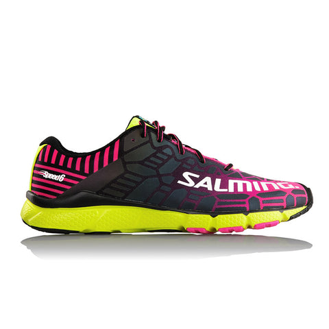 Salming Speed 6 Shoe - Fluorscent Pink/Flourscent Yellow