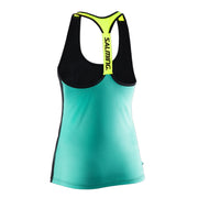 Salming T-back Tanktop Women - Ceramic Green/Black